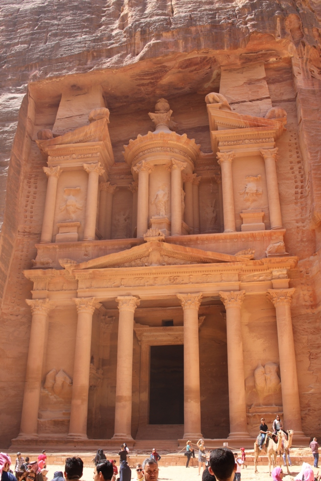 Al-Khazneh (The Treasury), one of the most elaborate temples in the ancient Arab Nabatean Kingdom city of Petra.